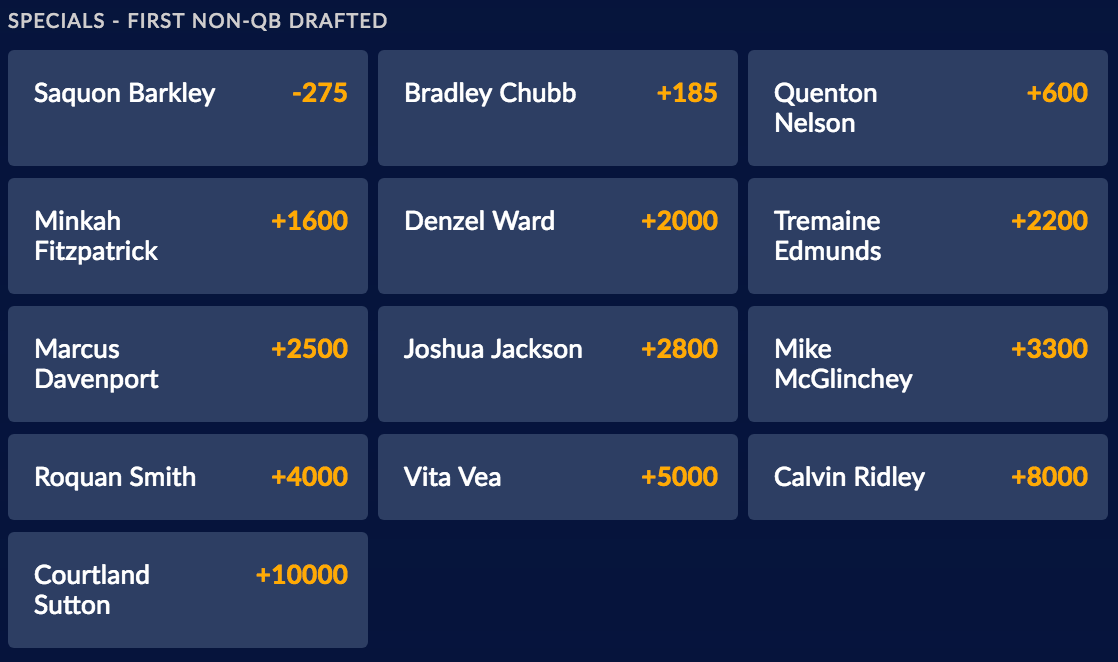 2018 NFL Draft Specials - First Non-QB Drafted